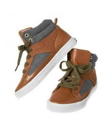 Crazy 8 brown/gray laceup high top sneakers