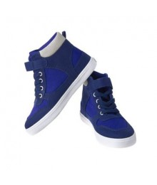 crazy 8 navy wt royal blue patch high top boys sneakers