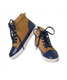 Crazy 8 brown/navy laceup high top sneakers