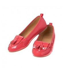 crazy 8 neon/cherry patent loafers girls shoes