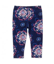 gymboree navy multiprint leggings