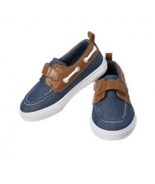 crazy 8 chambray blue wt brown top boat shoes