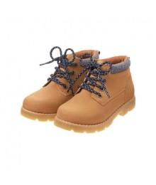 gymboree brown camp boot wtgray patch