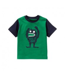 gymboree green monster tee