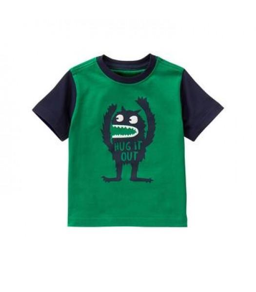 gymboree green monster tee  Little Boy