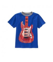 gymboree blue/orange guiter tee