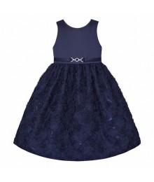 American princess navy floral soutache dress