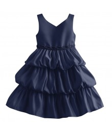 Princess faith navy sleeveless tiered baby dress