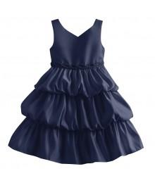 Princess faith navy sleeveless tiered baby dress