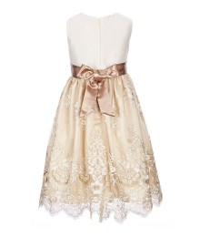 Jayne Copeland Cream/Ivory Embroidered Dress