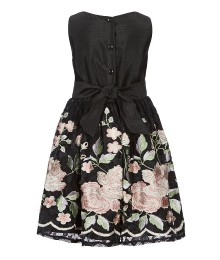 Pippa & Julie Black Embroidered Lace Dress