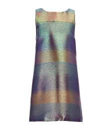 Gb Girls Multi Sleeveless Metallic Shimmer Dress