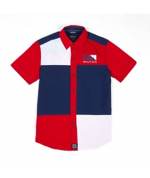 Nautica Red/Blue/White Mult-Color S/S Shirt Little Boy