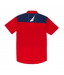 Nautica Red/Blue/White Mult-Color S/S Shirt