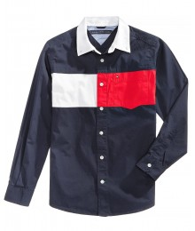 Tommy Hilfiger Blue/White/Red Multicolor L/S Shirt
