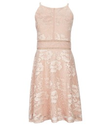 I.N. Girls Rose Gold Lace Dress