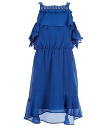 Marciano Blue Cold Shoulder High Low Dress  Big Girl
