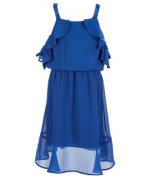 Marciano Blue Cold Shoulder High Low Dress
