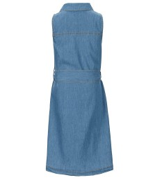 Copper Key Blue Denim Sleeveless Tie Front Dress