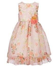 f5869f56b7f Laura Ashley Multi Floral Stripe Fit   Flare Dress ...