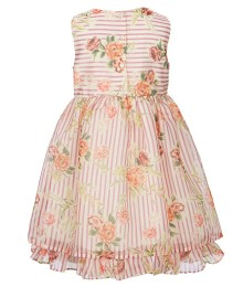 Laura Ashley Multi Floral Stripe Fit & Flare Dress
