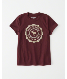 Abercrombie Maroon Girls Sequin Tee