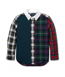 Polo Ralph Lauren Multi Plaid L/S Shirt With White Collar  Little Boy