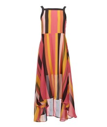 Gb Girls Multi Stripped Hi-Low Dress