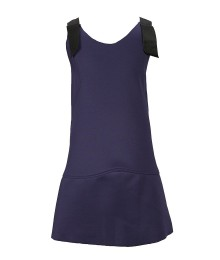 Gb Girls Navy Sleeveless Scuba Dress