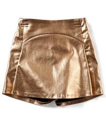 Gb Girls Gold Metallic Skort