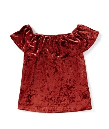 Zoe & Rose Oxblood Velvet Blouse