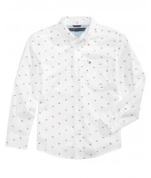 Tommy Hilfiger White With Tommy Emblems L/S Shirt