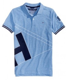 "Tommy Hilfiger Blue "" H "" Sign Polo Shirt"