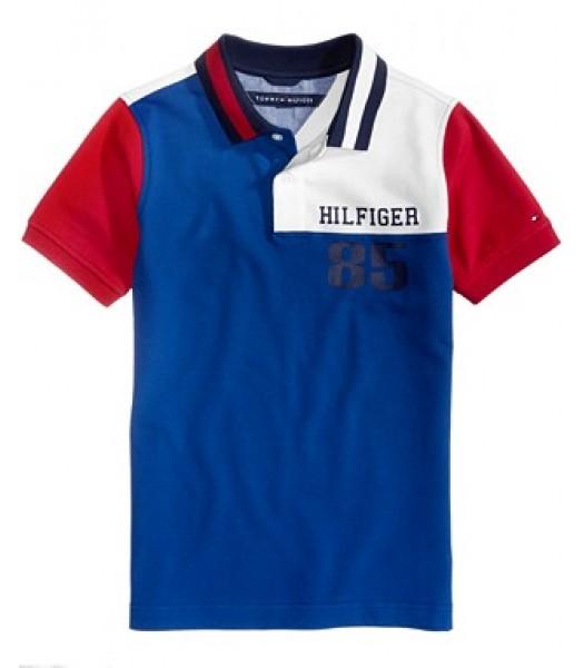 Tommy Hilfiger Blue/Wht/Red Multi Polo  Little Boy