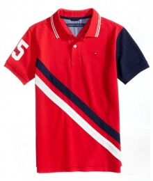 Tommy Hilfiger Blue/Wht/Red Multi 85 Usa Polo