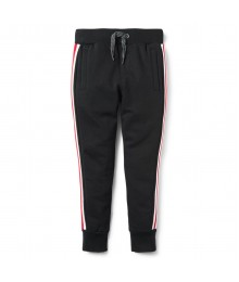 Crazy 8 Navy With White & Red Side Stripe Joggers