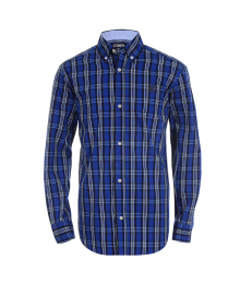 Chaps Blue (Violet) Plaid L/S Shirt Big Boy