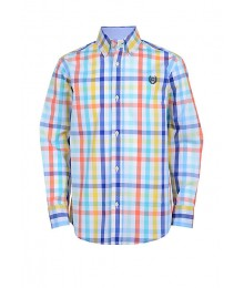 Chaps Citrus Multi Plaid L/S Shirt