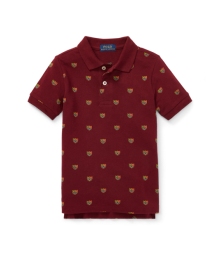 Polo Ralph Lauren Red With Emblem Print Polo Shirt  Little Boy