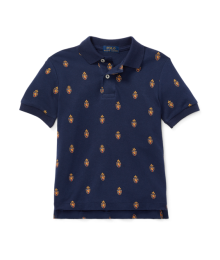 Polo Ralph Lauren Navy With Emblem Print Polo Shirt