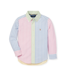 Polo Ralph Lauren Pink/Green/Blue/Yellow/White Multi Stripe Shirt  Little Boy