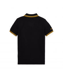 Polo Ralph Lauren Black With Gold Horse & Emblem Polo