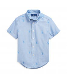Polo Ralph Lauren Blue Allover Pony Short Sleeve Shirt