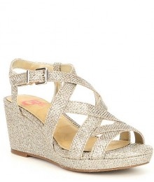 Gb Girls Gold Criss-Cross Fusion Wedges