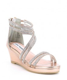 Steve Madden Rose Gold Jewelled Platform Sandals