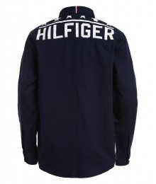 Tommy Hilfiger Blue/Red/White Color Block Hilfiger On Back L/S Shirt  Big Boy
