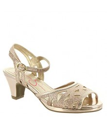 Jessica Simpson Rose Gold Girls Glitter Sandals