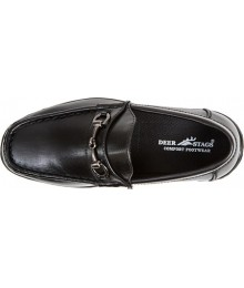 Deer Stag Black  Boys Dress Shoes