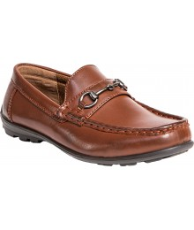 Deer Stag Dark Tan Boys Dress Shoes