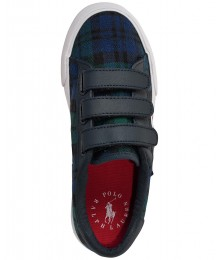 POLO RALPH LAUREN GREEN/NAVY/BLK EDGEWOOD CLOSURE SNEAKERS